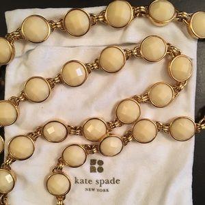 Rare Kate Spade Connect Four Cream Long Necklace